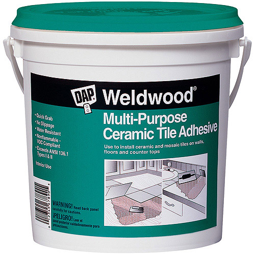Dap 25190 1-Quart Weldwood Multipurpose Ceramic Tile Adhesive