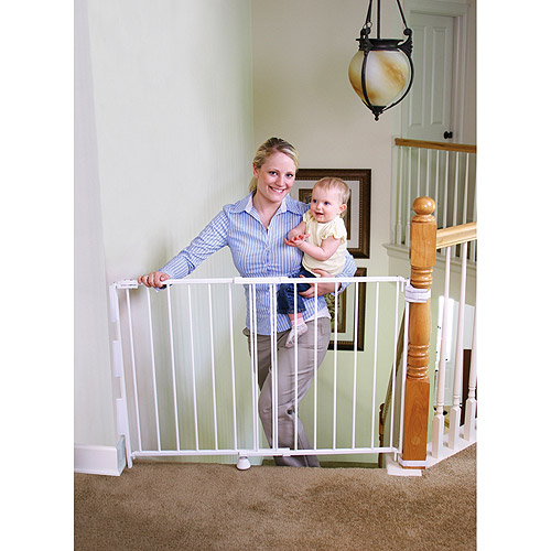"Regalo Top of Stairway Baby Gate, 26""-42"" with Swing Door"