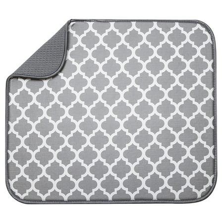 S Amp T Reversible Microfiber Dish Drying Mat 16 Quot X 18