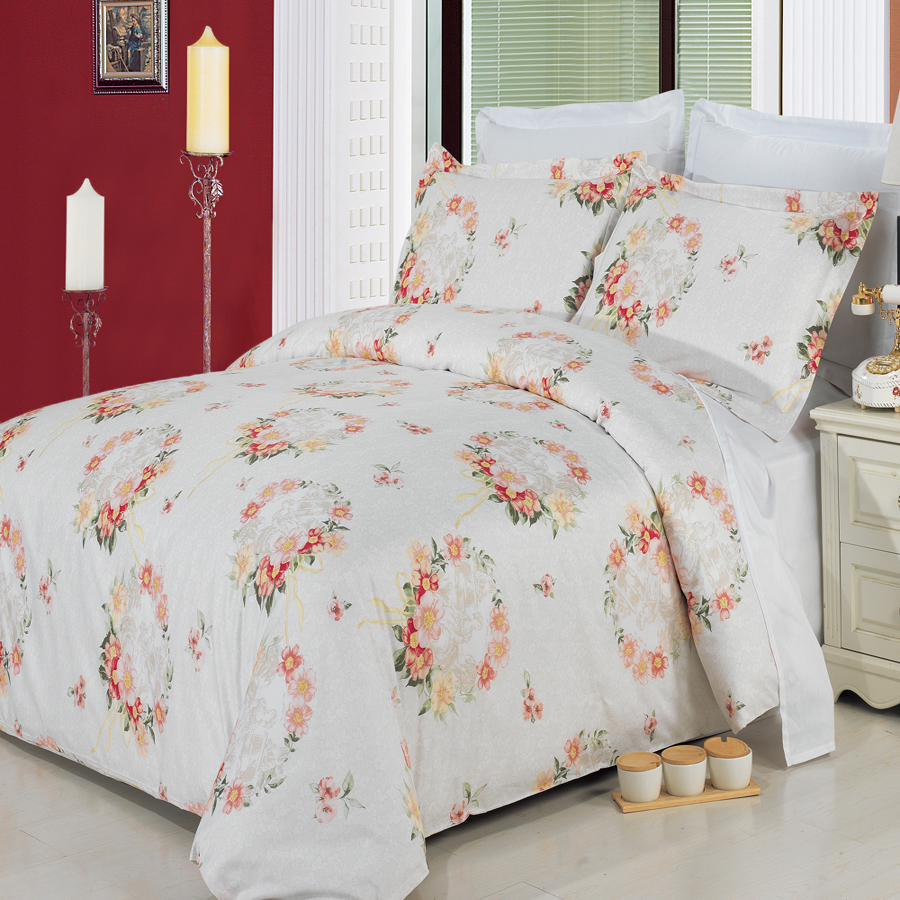 Clearance: Soft 100% Cotton Printed 3 Piece Duvet Cover Set-Full/Queen-Liza