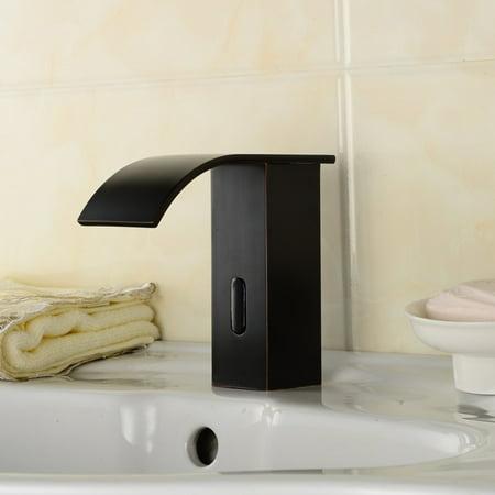 Automatic Sensor Faucet Sensor Touchless Faucet Induction Faucet Bathroom Sink Faucet Antique Looking Water Faucet Noble Non-Touchl Faucet Copper Sink Tap Bathroom Fixtures