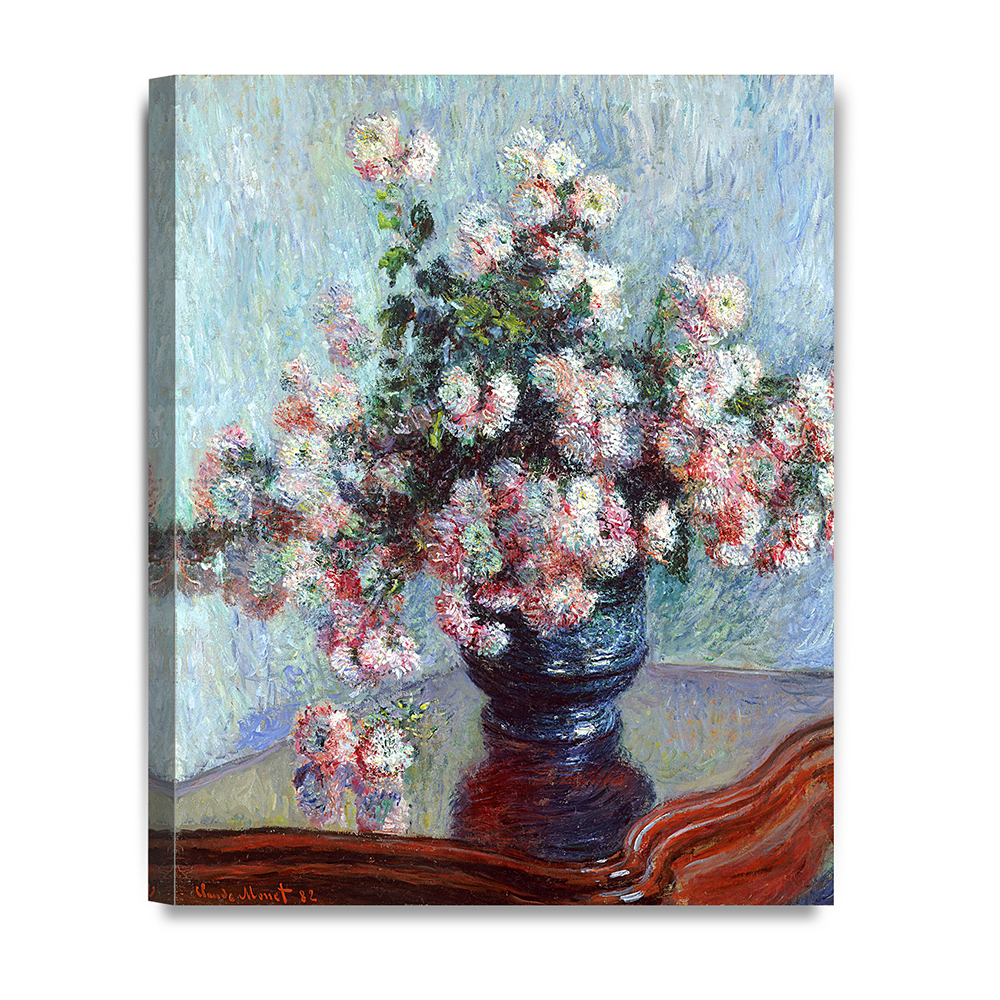 decorarts - chrysanthemums, claude monet art reproduction. giclee ...