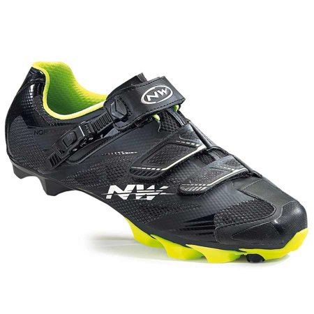 Northwave, Scorpius 2 SRS, MTB shoes, Black/Yellow Fluo,
