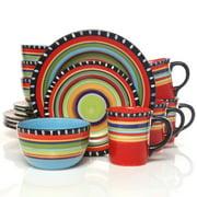 Gibson Elite Pueblo Springs Durastone Kitchen Dinnerware Set (16 Pieces)