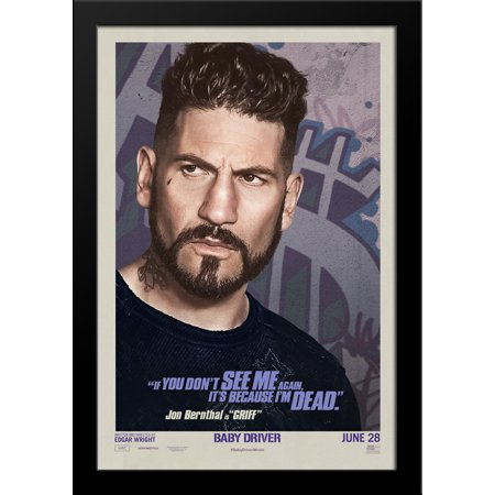 Baby Driver 28X36 Large Black Wood Framed Movie Poster Art Print