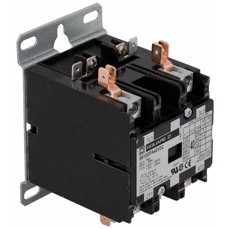 480VAC Definite Purpose Contactor; No. of Poles 2, 40 Full Load Amps-Inductive