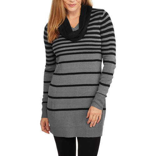 Faded Glory Women's Tunic Sweater with Scarf