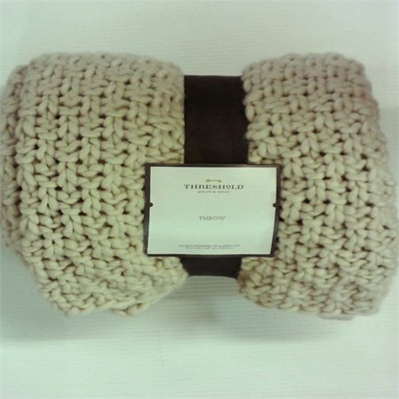 Threshold Chunky Knit Throw - Cream