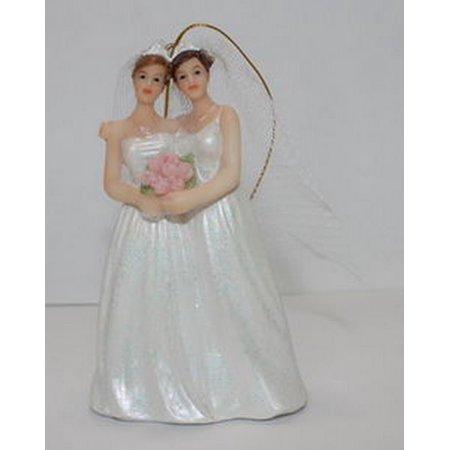 December Diamonds Brides Gay Wedding Couple Christmas Ornament Lesbian