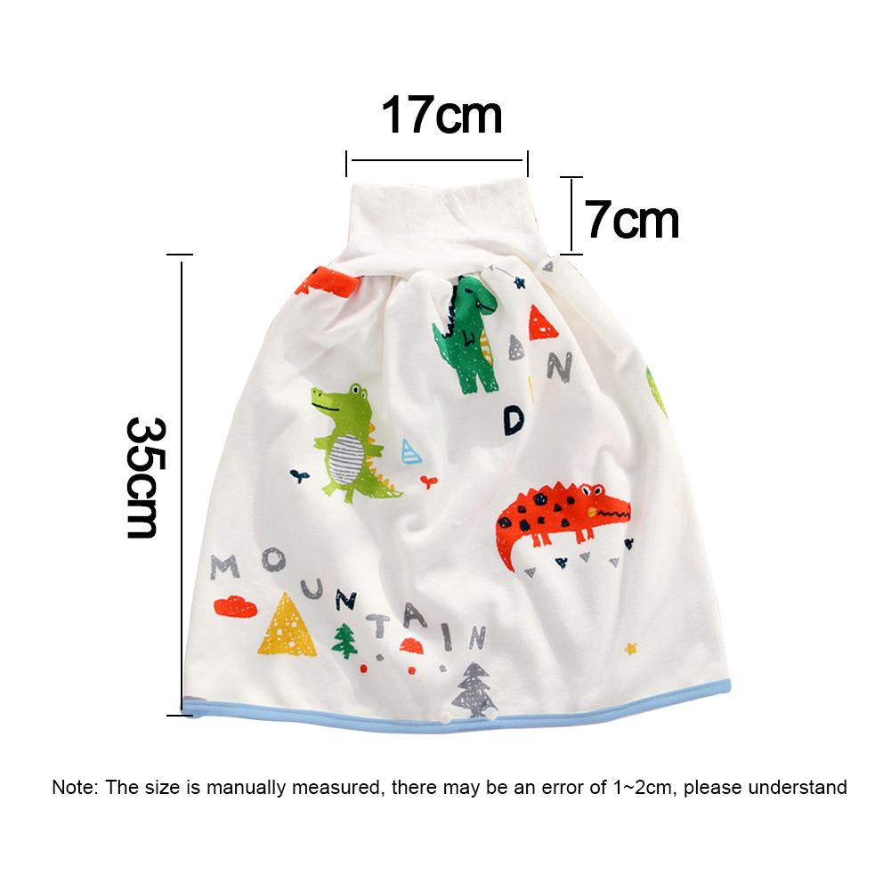 Sysow Baby Diaper Skirt Washable Leak-proof Breathable for Children Training Skirt for Baby Reusable Potty Nappy Pants High Waisted Belly Protecting Nappy Skirt with High Waist