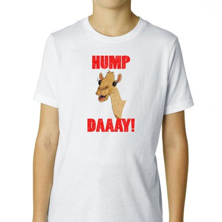 Hump Day  Wednesday Camel   Yay  Boys Cotton Youth T Shirt