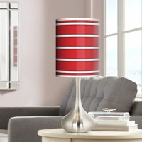 Giclee Glow Bold Red Stripe Giclee Droplet Table Lamp