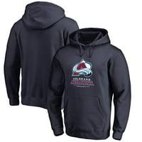 Colorado Avalanche Team Lockup Pullover Hoodie - Navy