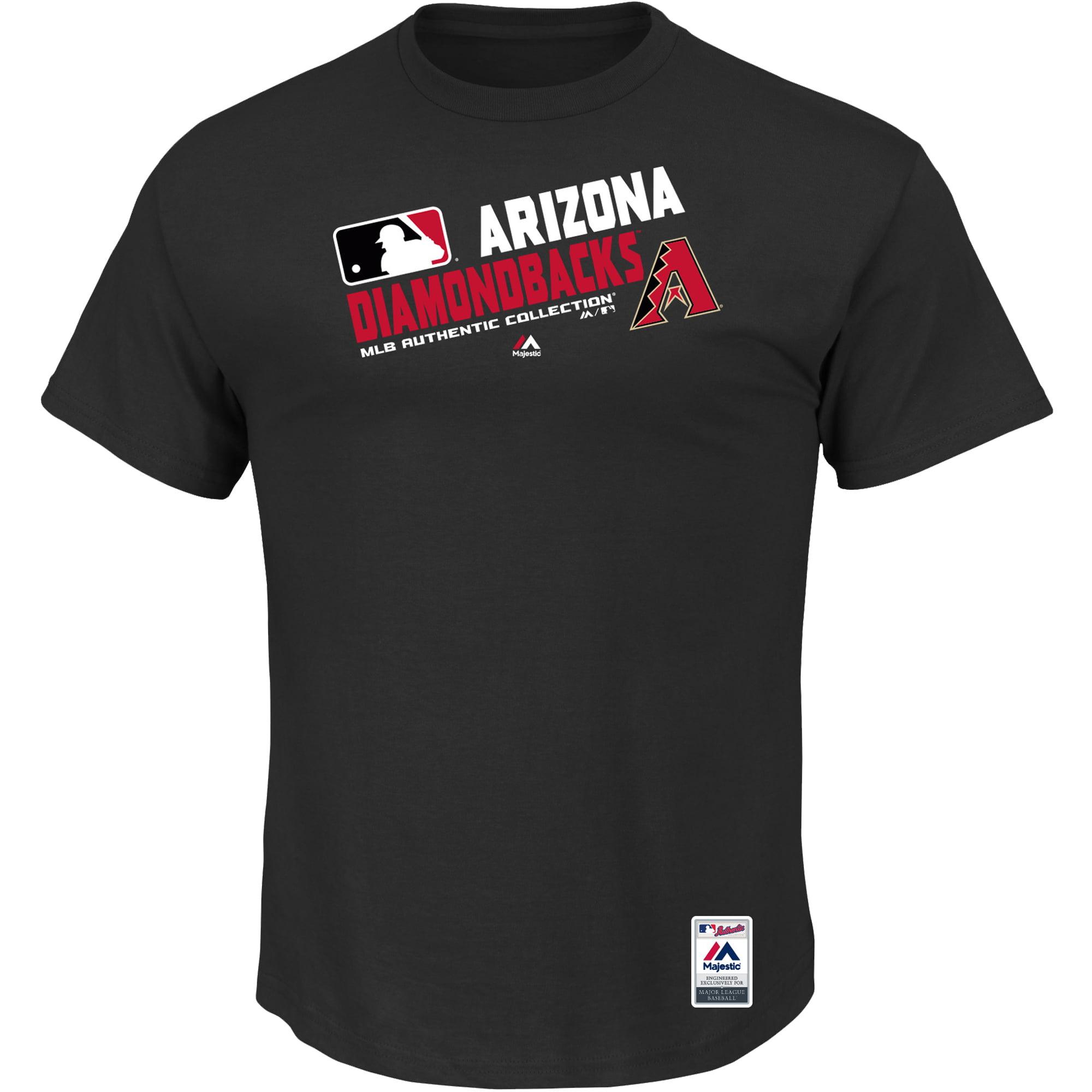 Arizona Diamondbacks Majestic Big & Tall Authentic Collection Official Team Choice T-Shirt - Black
