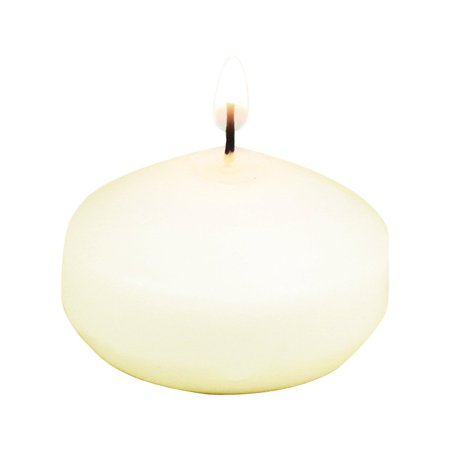 Koyal Wholesale 8-Pack Unscented 1.75-Inch Floating Candles, Ivory 1.75 Turquoise Floating Candles