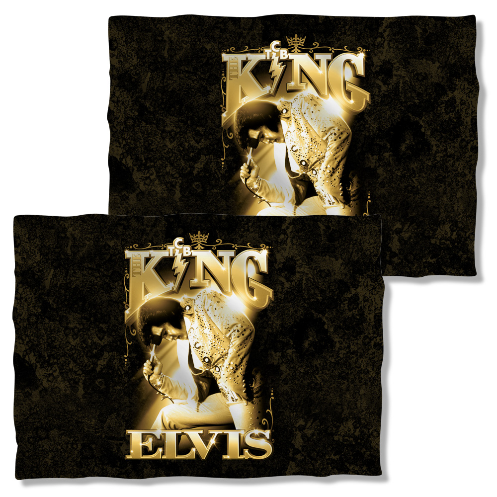 Elvis The King Pillow Case White One Size