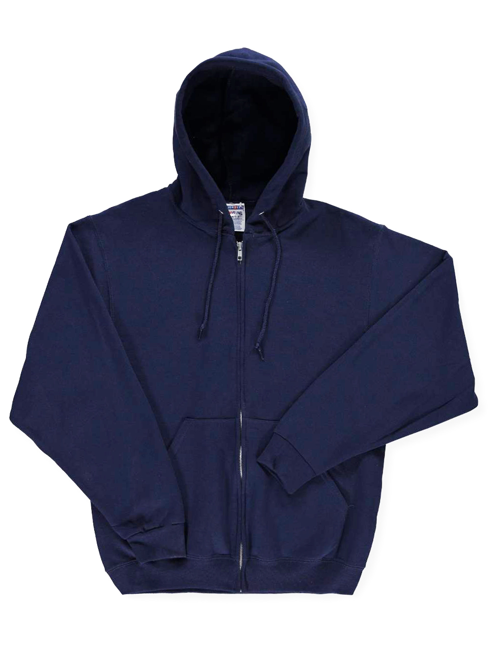 Jerzees Basic Fleece Zippered Hoodie with Drawstrings (Adult Sizes S - XL)