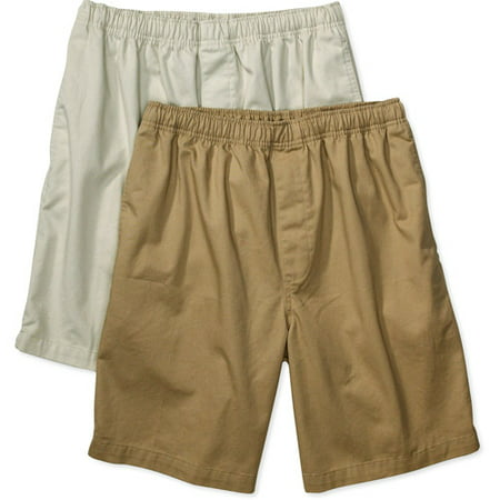 George - Men's Elastic-Waist Shorts, 2-Pack - Walmart.com