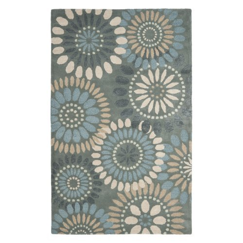 Area Rug in Gray and Blue (10 ft. L x 8 ft. W)