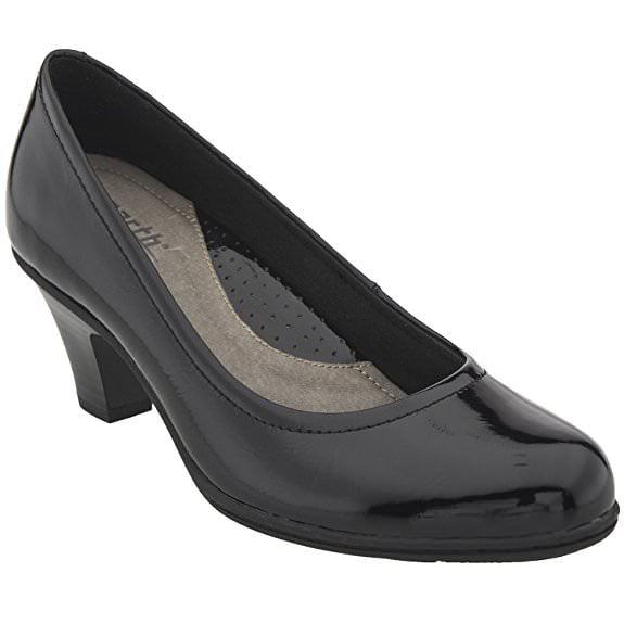 Earth BIJOU Womens Black Patent Leather Heel Pump Shoes