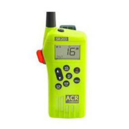 """""""ACR Electronics GMDSS Survival Radio Multi Channel GMDSS Waterproof Hand Held VHF SR203"""" by ACR Electronics"""