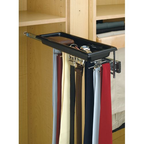 Rev-A-Shelf TBC-14T TBC Series Tie and Belt Rack with Accessory Tray