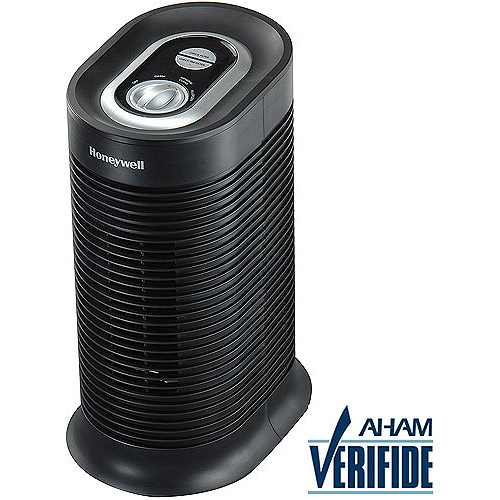 Honeywell True HEPA Compact Tower Allergen Remover HPA060, Black