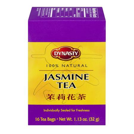 Dynasty 100% Natural Jasmine Tea Bags, 16 ct