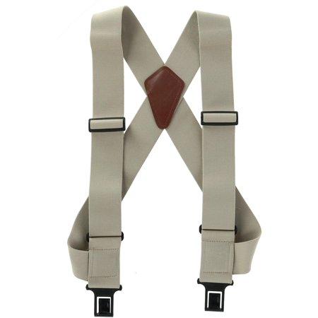 2 Men's uBEE Outback Comfort Adjustable 2 Hook Suspenders - Trendy Suspenders