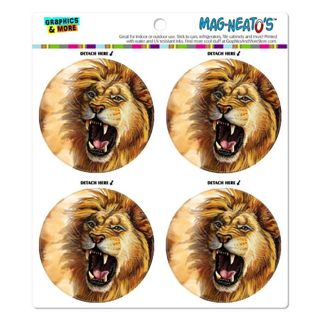 Lion Roar Big Cat Safari MAG-NEATO'S(TM) Car/Refrigerator Magnet -