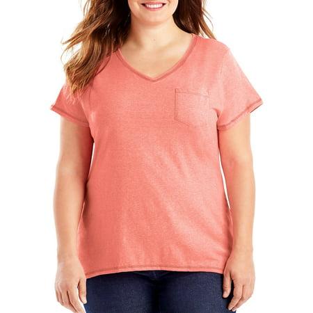 Women's Plus-Size X-Temp Pocket - Plus Size Wonder Woman T-shirt