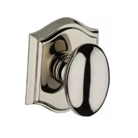 Baldwin PVELLTAR141 Ellipse Privacy Knobset with Traditional Arch Rose, Polished Nickel - image 1 de 1