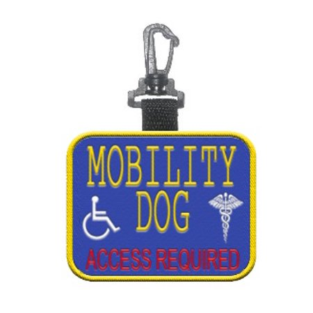 """Mobility Dog - Access Required"" Identification Patch Tag"