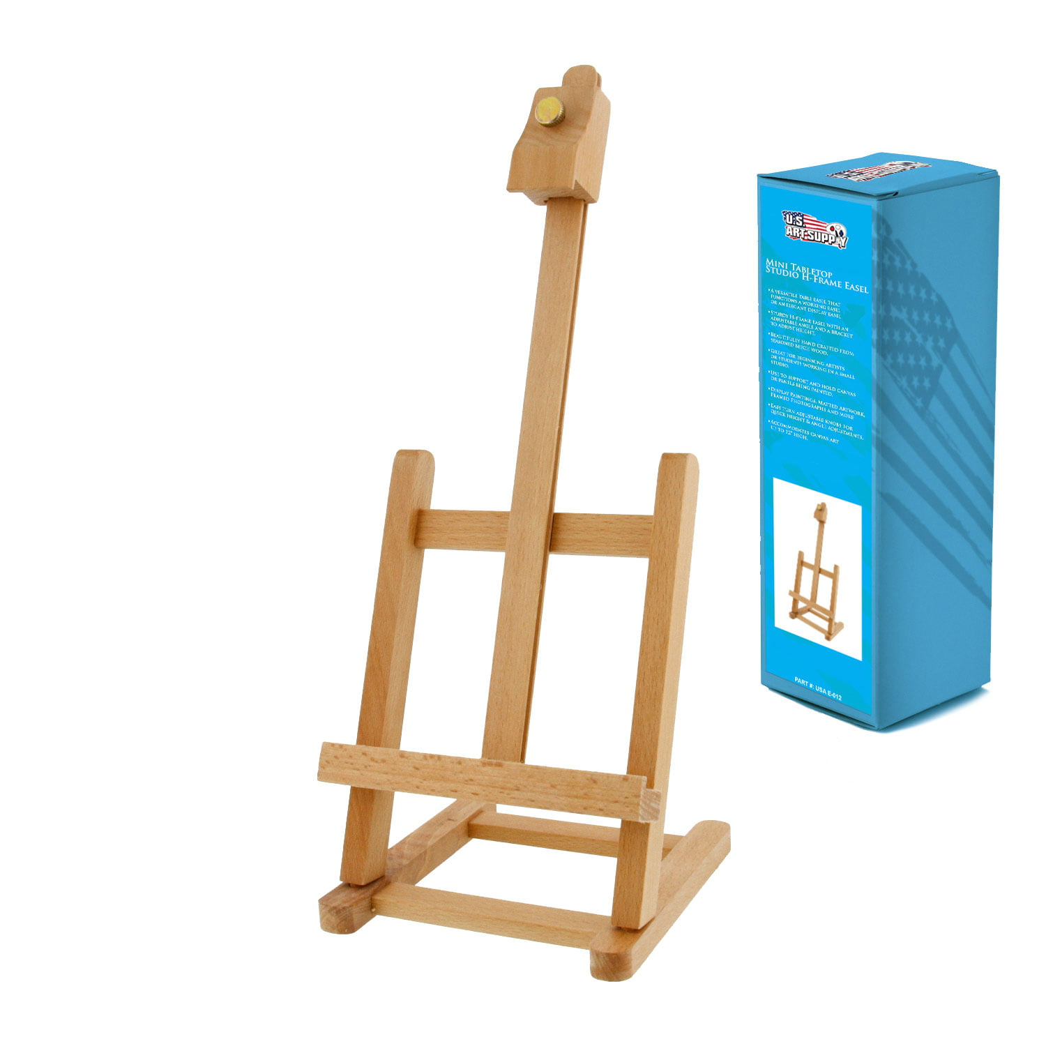 US Art Supply MINI Wood Studio Adjustable Artist H-Frame Table Easel ...