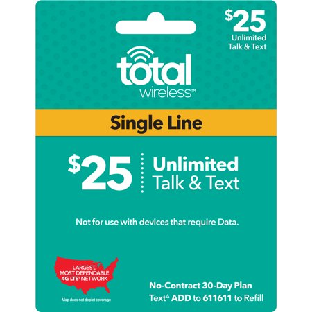 Total Wireless $25 Individual 30 Day Plan (Email