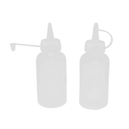 - 100ml Capacity Plastic Oil Liquid Bottle Dispenser Holder 2pcs