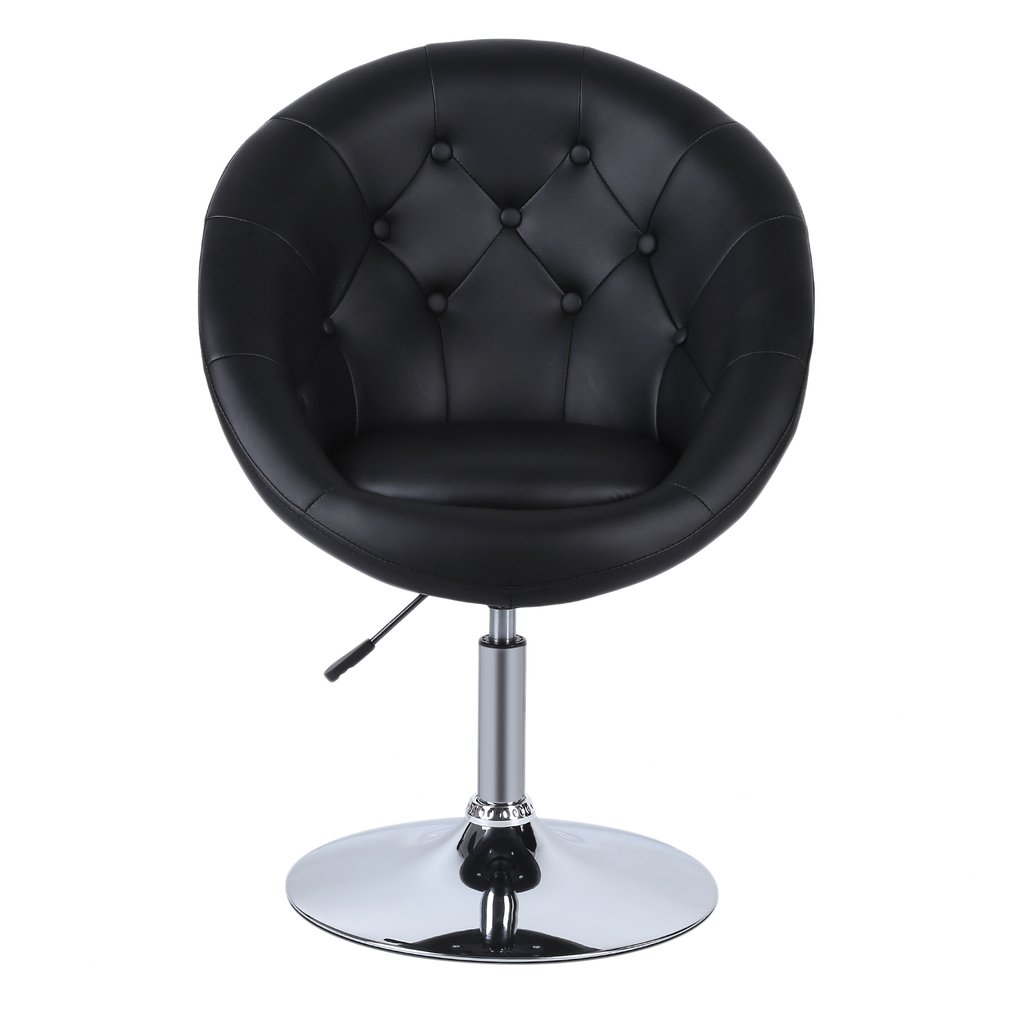 Adjustable PU Leather Chair Modern Swivel Armchair Comfortable Office Seat