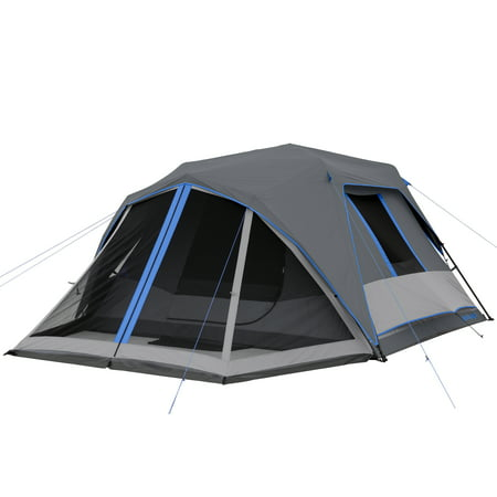 Ozark Trail 6P Dark Rest Instant Cabin Tent with Front Porch LED Lighted Poles