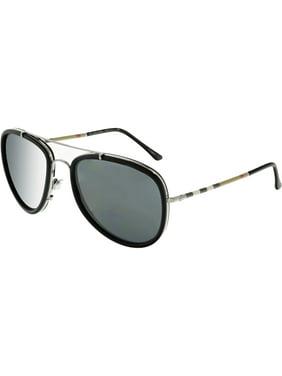 32b1400e9be1 Product Image Burberry Men s BE3090Q-100387-58 Black Aviator Sunglasses