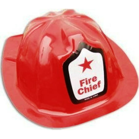 Child Fire Fighter Man Chief Firefighter Fireman Red Plastic Helmet Costume Hat](Firefighter Kids)