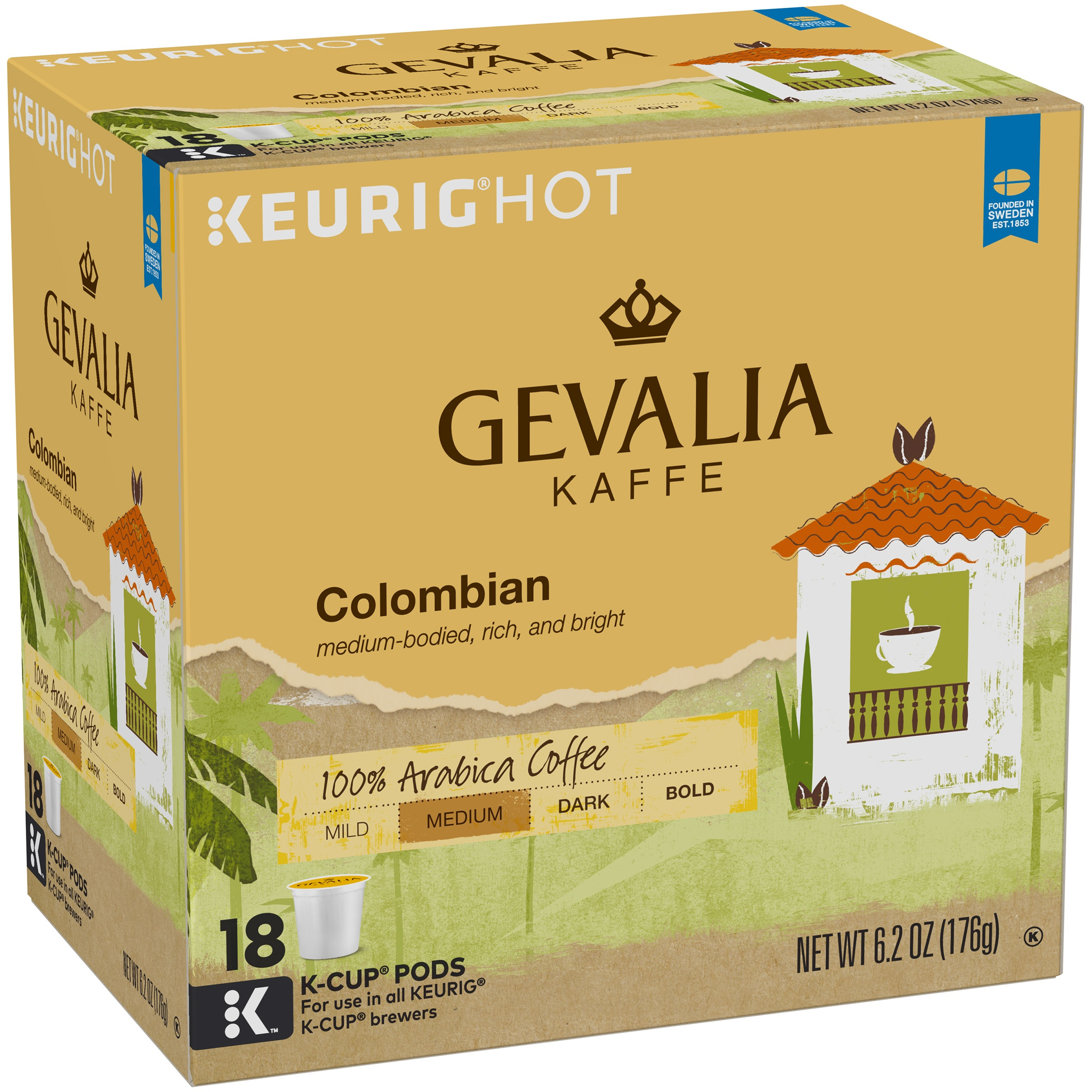 Gevalia Colombian Coffee K-Cup® Pods 18 ct Box