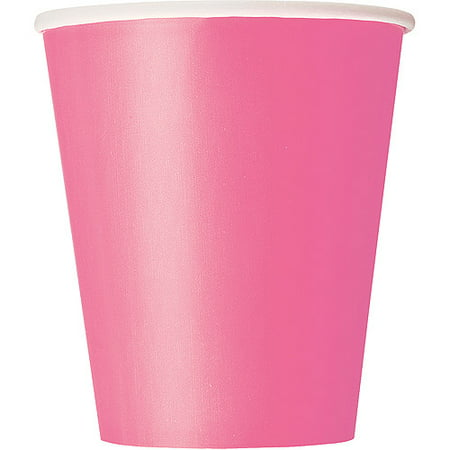 (3 Pack) Paper Cups, 9 oz, Hot Pink, 14ct (Pink Party Cups)