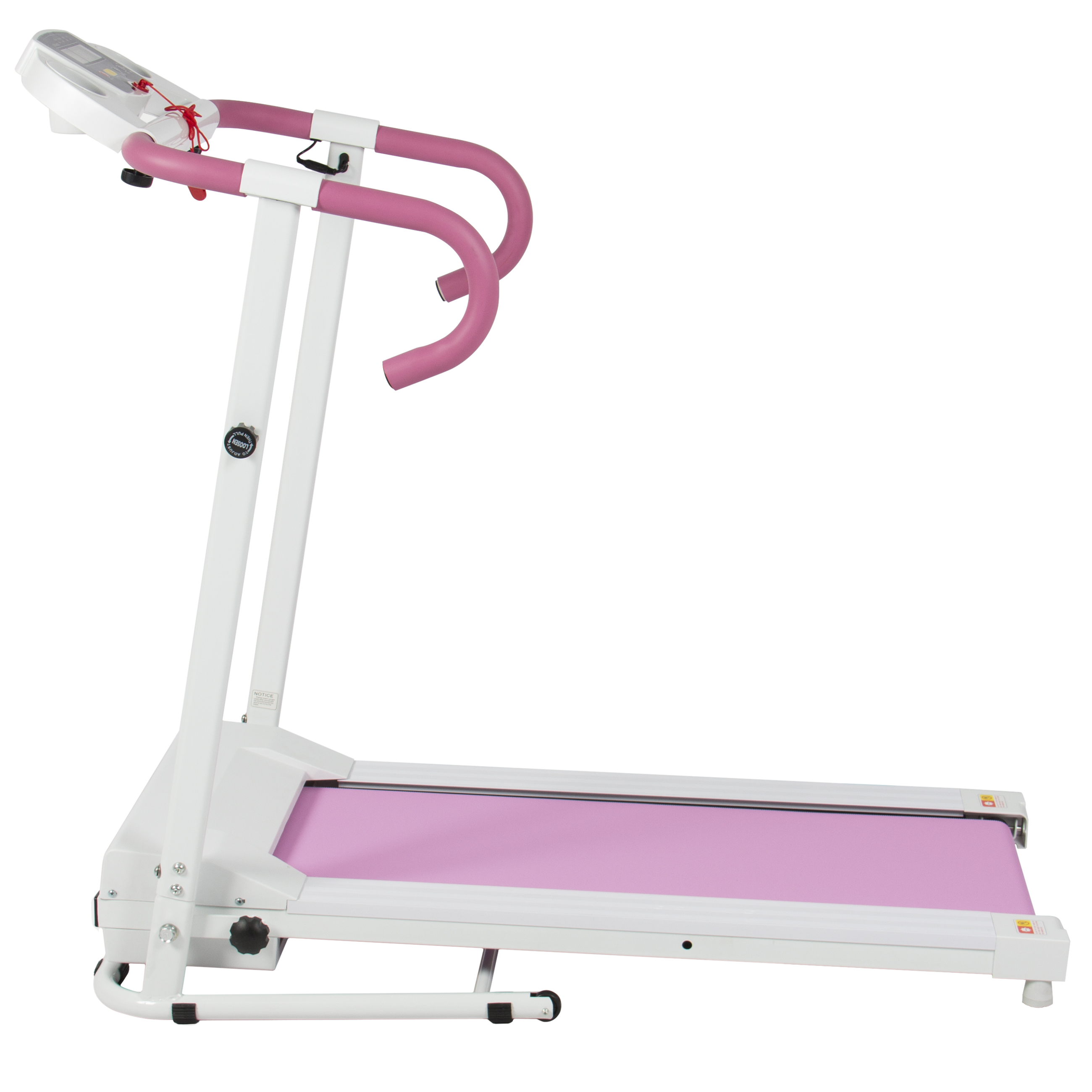 Pink 500W Portable Folding Electric Motorized Treadmill Running ...