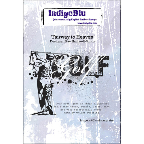 "IndigoBlu Cling Mounted Stamp, 5"" x 4"", Fairway to Heaven"