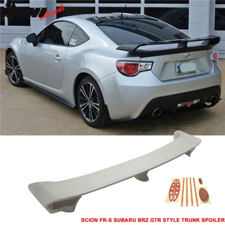 Fits 13-19 FRS BRZ G Style Rear Trunk Spoiler Lip Wing ABS Unpainted GT86 ()