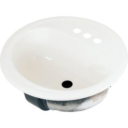 Bootz 19 round lavatory sink white porcelain steel for Porcelain on steel bathtub review