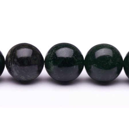 Agate Crystal Stone - Round - Shaped Green Agate Beads Semi Precious Gemstones Size: 12x12mm Crystal Energy Stone Healing Power for Jewelry Making