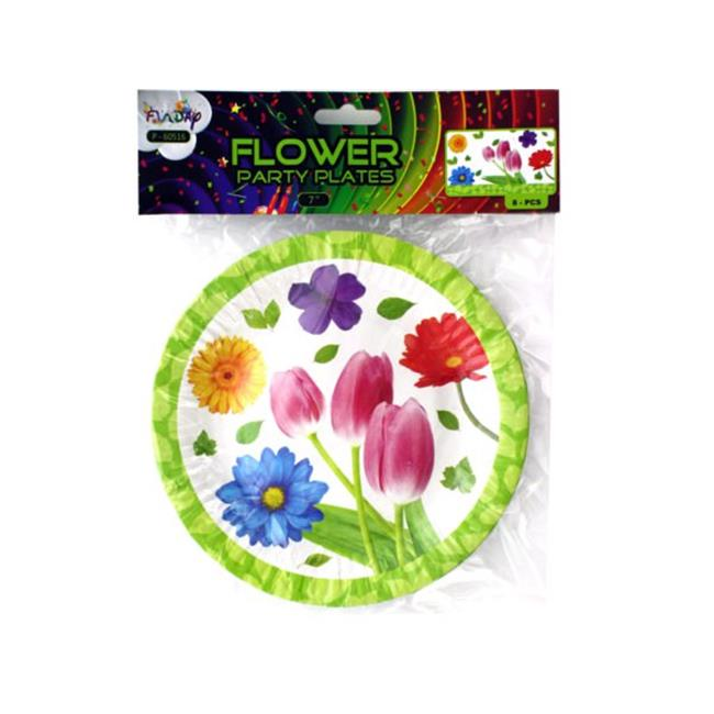 Kole Imports Gw629 72 9 In Floral Party Paper Plates 72 Piece