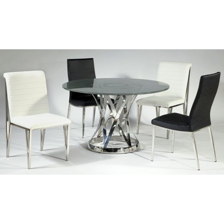 Chintaly Janet 5 Piece Dining Table Set With Le Gl Top