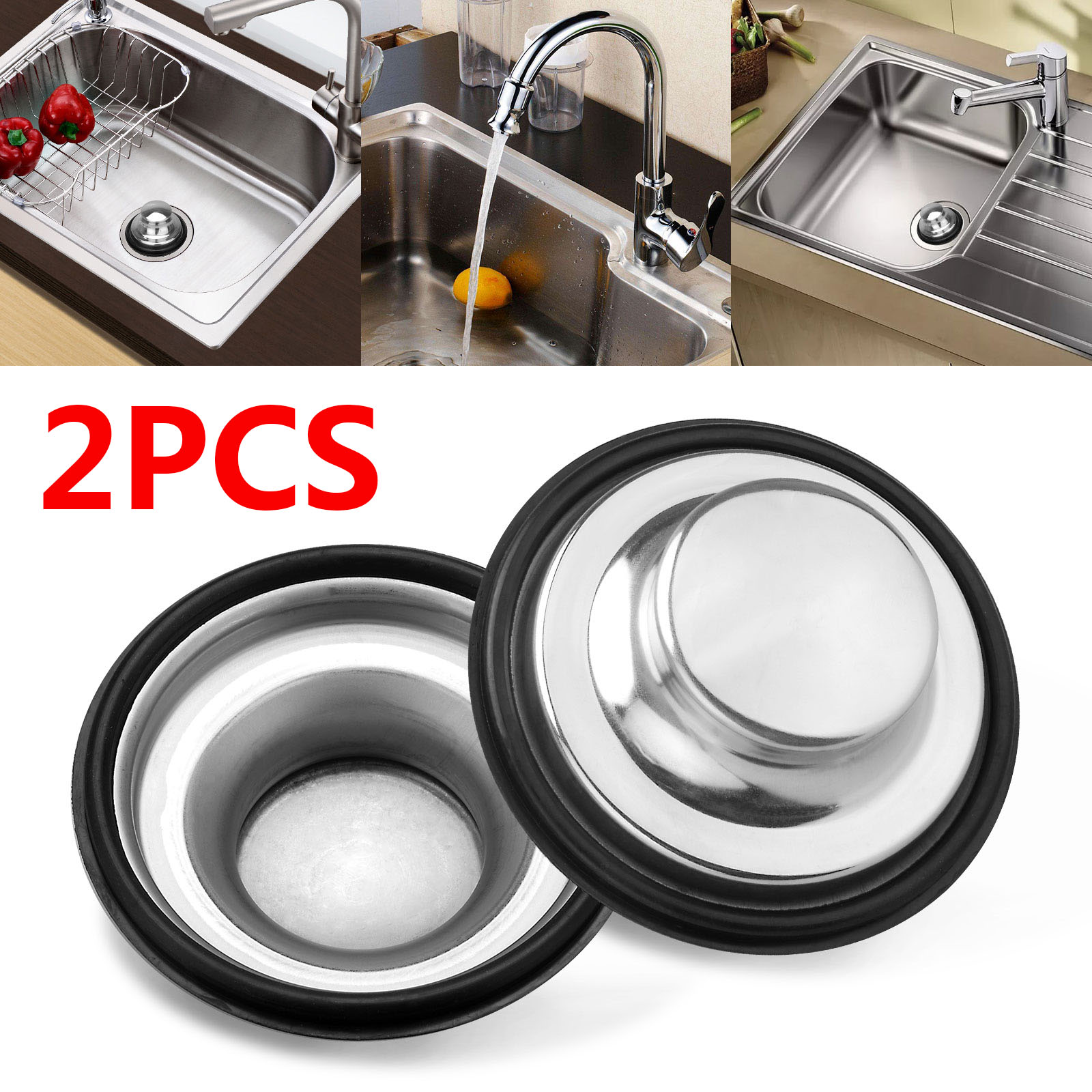 Kitchen Sink Stopper 2pcs Anti Clogging Stainless Steel Sink Disposal Stopper Or 1 2pcs Sink Stopper Stainless Steel Cover Perforated Basket Drain Filter Sieve Or Keep Water For Kitchen Sink Drain Walmart Com
